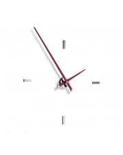 Zegar ścienny Tacón L 4sh TAL004R Nomon z czerwonymi wskazówkami