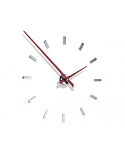 Zegar ścienny Tacón L 12sh TAL012R Nomon z czerwonymi wskazówkami