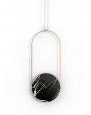 Zegar ścienny Colgante Marble Sahara Noir Nomon