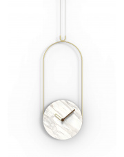 Zegar ścienny Colgante Marble Calacatta Gold Nomon
