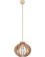 Lampa wisząca IKA C 4173 Nowodvorski Lighting drewniana oprawa w dekoracyjnym stylu