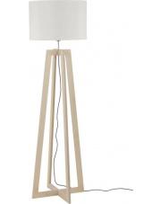 Lampa podłogowa ACROSS 6927 Nowodvorski Lighting nowoczesna biała oprawa na drewnianej podstawie