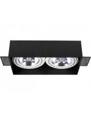 Oprawa wpuszczana MOD PLUS 9403 Nowodvorski Lighting podwójna lampa w kolorze czarnym