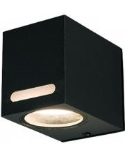 Kinkiet zewnętrzny ASSOS 9123 Nowodvorski Lighting sześcienna oprawa w kolorze czarnym