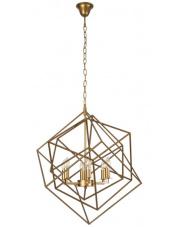 Lampa wisząca ANDORA P0328 Maxlight mosiężna oprawa w stylu nowoczesnym
