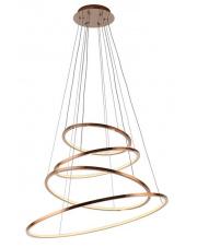 Lampa wisząca żyrandol Queen P0244D Maxlight miedziana oprawa z funkcją ściemniania światła