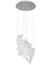 Lampa wisząca SILK P0371 Maxlight biała oprawa w nowoczesnym stylu