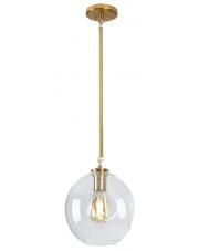 Lampa wisząca Spirit P0365 MAXlight złota oprawa z transparentnym kloszem