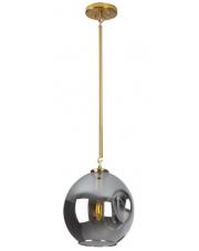 Lampa wisząca Spirit P0366 MAXlight złota oprawa z kloszem z przydymionego szkła