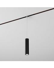 Reflektor do systemu szynowego PET mini LED zwieszany multitrack AQform czarna oprawa w kształcie tuby