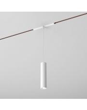 Reflektor do systemu szynowego PET mini LED zwieszany multitrack AQform biała oprawa w kształcie tuby