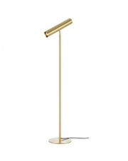 Lampa podłogowa Ruben 107886 Markslojd złota oprawa w nowoczesnym stylu