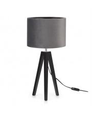 Lampa stołowa Lunden 107943 Markslojd czarna oprawa z szarym abażurem