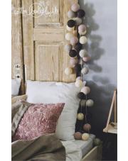 Kompozycja kolorowych kul LED Babie lato Cotton Ball Lights