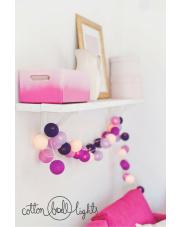 Kompozycja kolorowych kul LED Berry Ice Cream Cotton Ball Lights