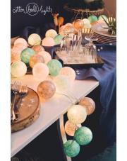 Kompozycja kolorowych kul LED Frozen Cotton Ball Lights