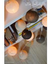 Kompozycja kolorowych kul LED Taupe Cotton Ball Lights