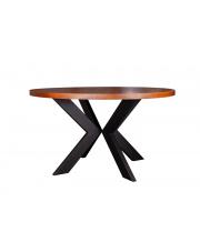 KRZYŻAK stół dębowy ze stalowymi nogami 130cm Artemodo
