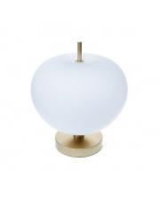 Lampa stołowa Peonia LED BL0138 Berella Light klasyczna oprawa w kolorze złotym