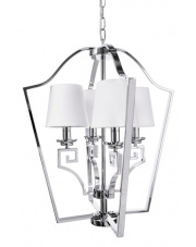 Lampa wisząca Alora BL0143 Berella Light klasyczna oprawa z białym abażurem