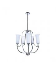Lampa wisząca Artos 5 BL0488 Berella Light nowoczesna oprawa z białym abażurem