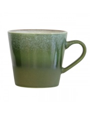 Kubek ceramiczny do cappuccino Grass ACE6054 HK Living retro kubek w stylu lat 70.