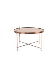 Stół CUPID LARGE COPPER 2300049 Zuiver okrągły miedziany stolik w dużej wersji