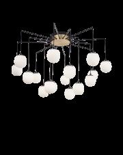 Żyrandol Rhapsody 236964 Ideal Lux nowoczesna lampa w kolorze satynowego mosiądzu