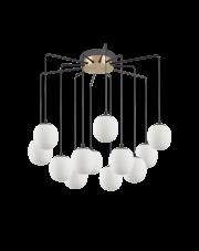 Żyrandol Rhapsody 236957 Ideal Lux nowoczesna lampa w kolorze satynowego mosiądzu