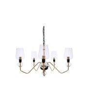 Lampa wisząca TIBO 5 BL0543 Berella Light transparentna oprawa z wykończeniem złota