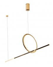Lampa wisząca LOZANNA P0390 MAXlight nowoczesna oprawa w kolorze złotym