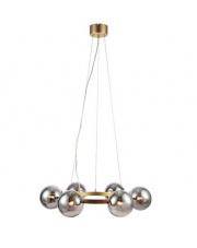 Lampa wisząca Circle 108050 Markslojd złota oprawa z dymionymi kloszami