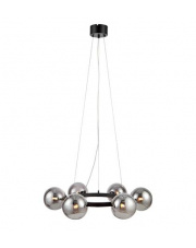 Lampa wisząca Circle 108051 Markslojd czarna oprawa z dymionymi kloszami