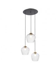 Lampa wisząca Venus 3 11071309 KASPA nowoczesna oprawa ze szklanymi dekoracyjnymi kloszami