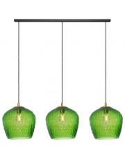 Lampa wisząca Venus Listwa 3 11013313 KASPA nowoczesna oprawa na listwie ze szklanymi dekoracyjnymi kloszami