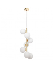 Lampa wisząca Cumulus Vertical 1 10757705 KASPA złota oprawa w dekoracyjnym stylu