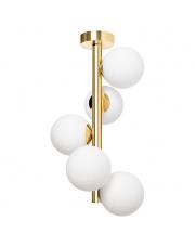 Plafon Cumulus Vertical 2 10759505 KASPA złota oprawa w dekoracyjnym stylu