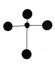 Kinkiet Blueberry 4 nowoczesna oprawa w kolorze czarnym