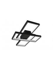 Plafon Rettangolo S 72W 2455 nowoczesna oprawa w kolorze czarnym