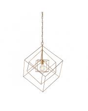 Lampa wisząca Rete RE25421-B Artemodo sześcienna złota oprawa w rustykalnym stylu