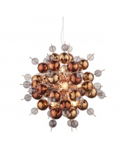 Lampa wisząca Pluviam PL07621-B Artemodo szklana dekoracyjna oprawa w kolorze miedzi