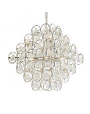 Lampa wisząca Nix NI21521-A Artemodo srebrna oprawa z kryształkami