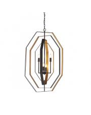 Lampa wisząca Brunn BR21121-A Artemodo geometryczna oprawa w kolorze brązowo-złotym