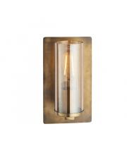 Kinkiet Steal&Glass ST03221-D Artemodo mosiężna oprawa ze szklanym kloszem