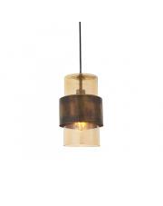 Lampa wisząca Steal&Glass ST03221-A Artemodo mosiężna oprawa z szampańskim kloszem