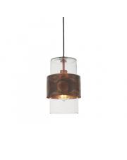 Lampa wisząca Steal&Glass ST03221-C Artemodo miedziana oprawa ze szklanym kloszem