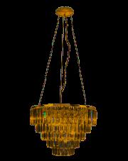 Lampa wisząca w kolorze złotym Monaco P0424 MaxLight