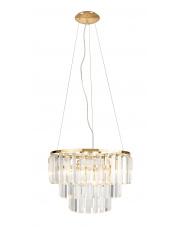 Lampa wisząca w kolorze złotym Monaco P0423 MaxLight