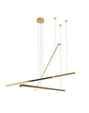 Lampa wisząca Trio 3 w kolorze złotym P0426D MaxLight