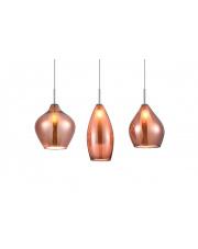 Lampa wisząca Amber Milano 3 A3078 AZzardo nowoczesna oprawa wisząca w stylu design w kolorze miedzianym